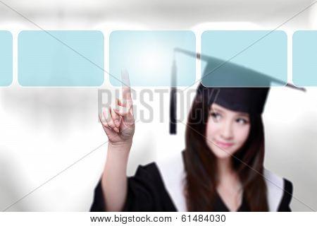 Woman Graduate Student Choosing