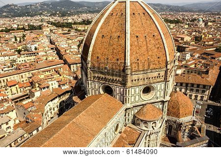 Top View On The Duomo And The Historical Center Of Florence, Ital