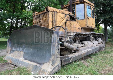 Bulldozer In Park