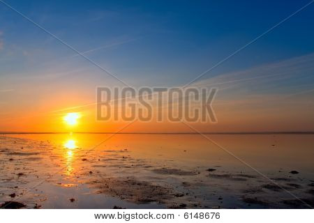 Sunrise At The Sea Coastline