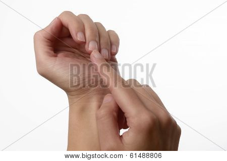 Woman With Natural Manicured Nails