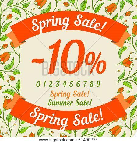 Spring sale design (or summer)