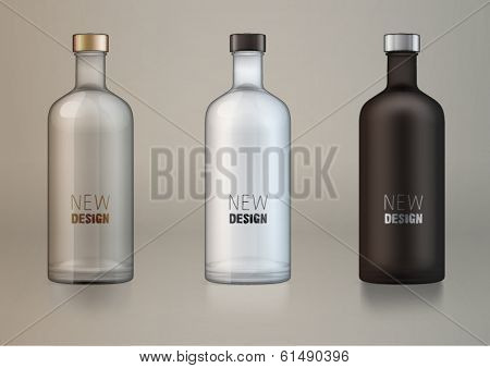 vector blank alcohol bottles for new design.