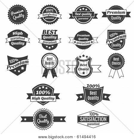 Collection of product price labels