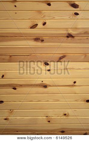 Horizontal Knotty Pine Boards
