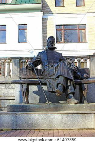Bronze Statue Of A.p. Chekhov In Zvenigorod
