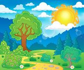Spring theme landscape 5 - eps10 vector illustration.