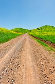 stock photo of golan-heights  - Dirt Road in the Golan Heights Early Spring - JPG