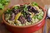 pic of tagine  - Traditional Moroccan beef tagine with couscous and preserved lemon - JPG