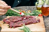 stock photo of meats  - Cooking ingredients - JPG