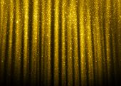 foto of gold-dust  - Gold sparkle glitter curtains background - JPG