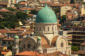 stock photo of synagogue  - Jewish Synagogue of Florence from top - JPG