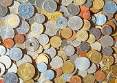 picture of copper coins  - Collection of the old circulated coins - JPG