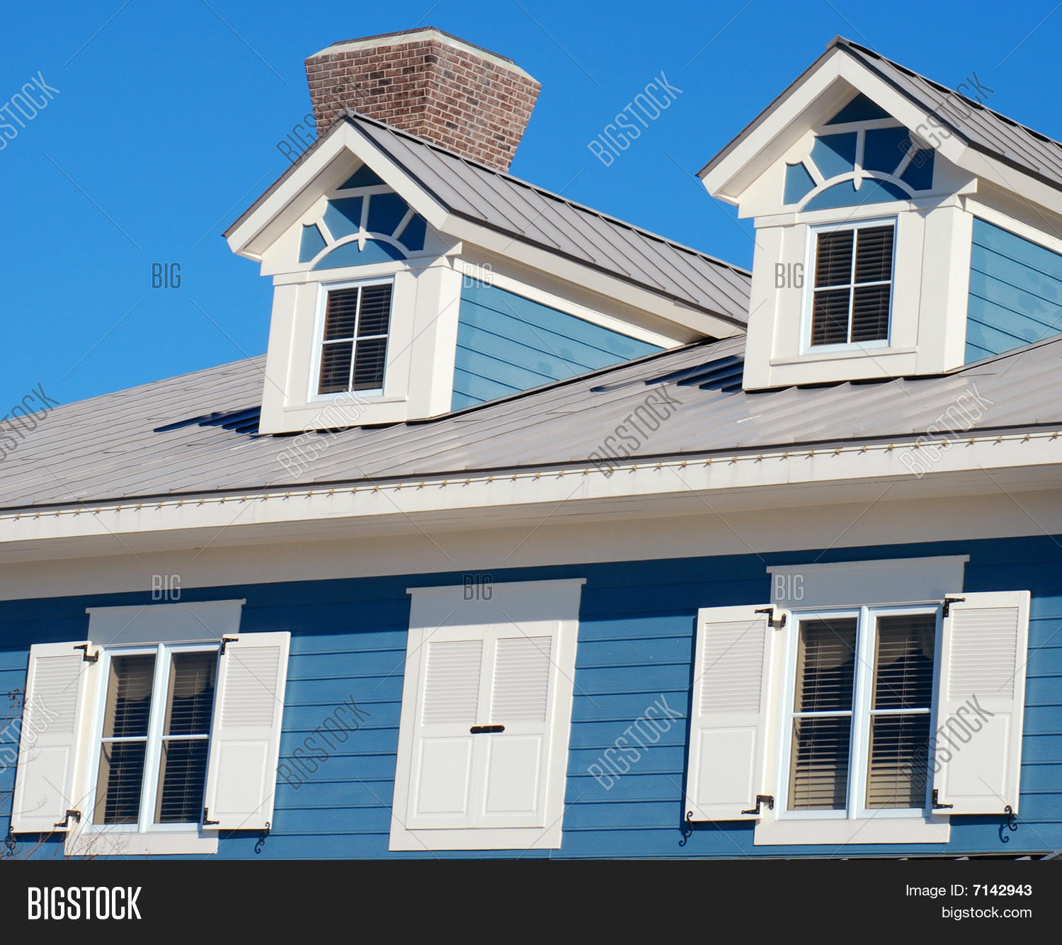 Victorian House Dormers Image Photo