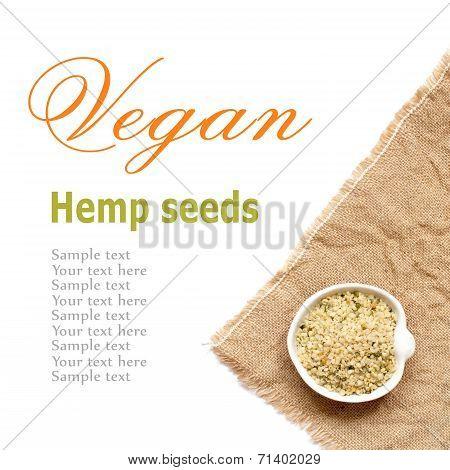 Raw Organic Hemp Seeds In A Bowl