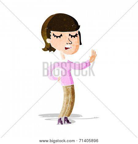cartoon woman arguing