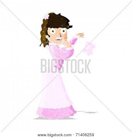 cartoon woman dropping handkerchief