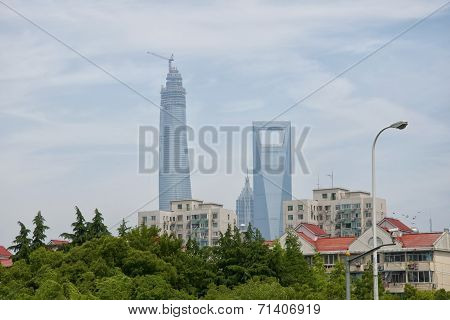 Shanghai Tower And The Financial Center