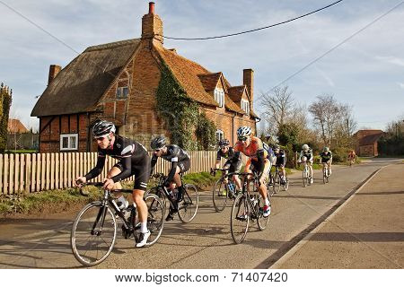 Road racing cyclists