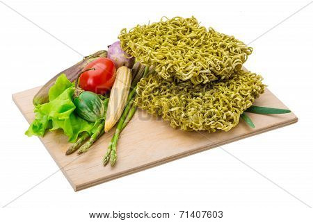 Green Raw Noodles