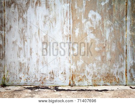 Grunge Interior Background Texture, Old Gray Concrete Wall