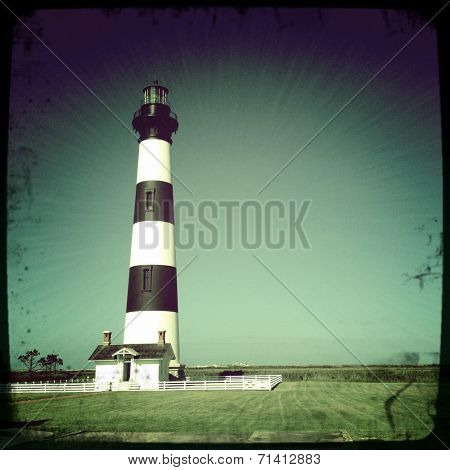 Instagram filtered image of the Bodie Lighthouse, Outer Banks, North Carolina