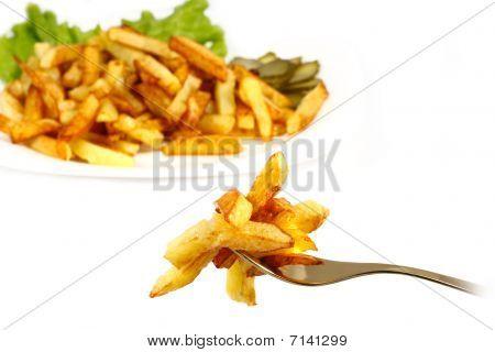 Potatoes roasted small bars