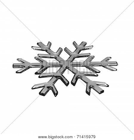 Gray Glass Snowflake