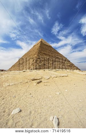 Pyramids Of Giza - Pyramid Of Khafre  In Egypt