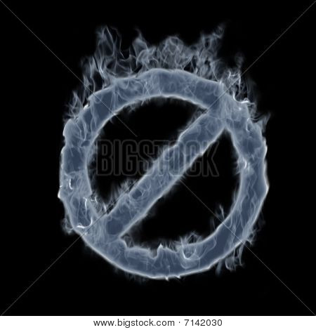 Smoke Forbidden Symbol