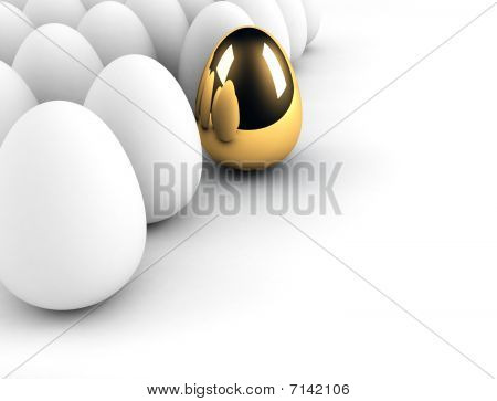 Golden Egg Concept Out Of The Crowd
