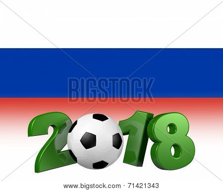Soccer 2018 With Russian Flag