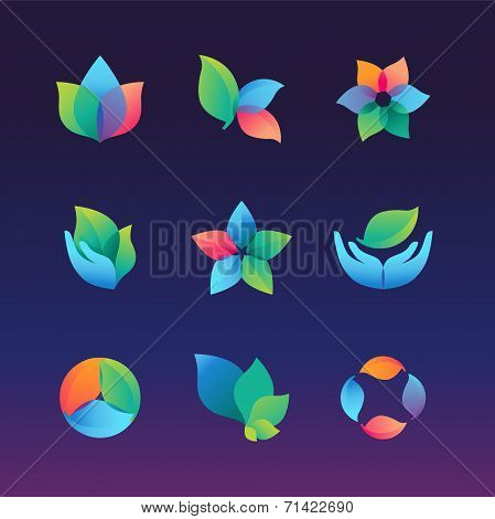 Vector Ecology And Growth Logos And Signs
