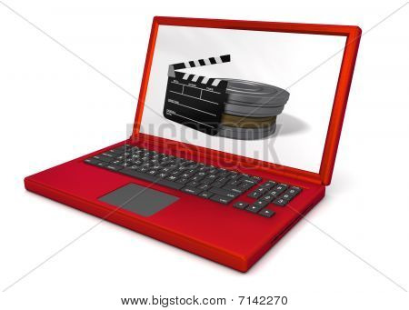 Red Laptop