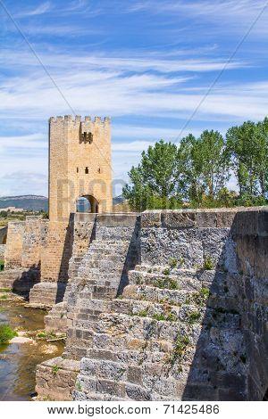 Bridge Of Frias, In Burgos, Spain.