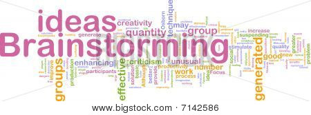 Brainstorming Word Cloud