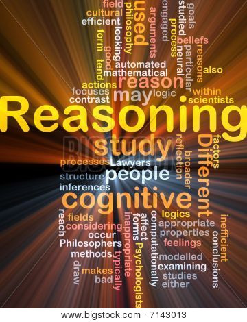 Cognitive Reasoning Background Concept Glowing