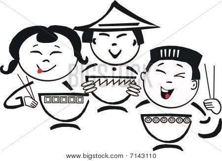 Asian food cartoon