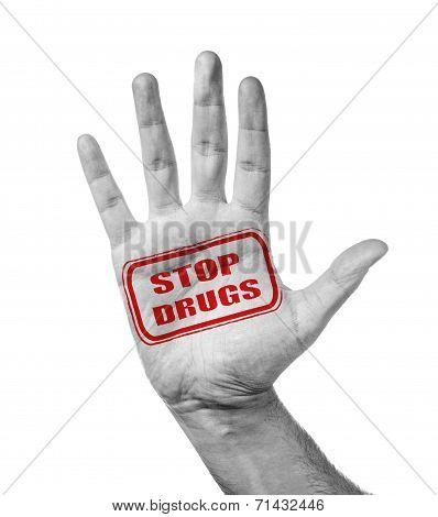 Open Hand Gesturing Stop