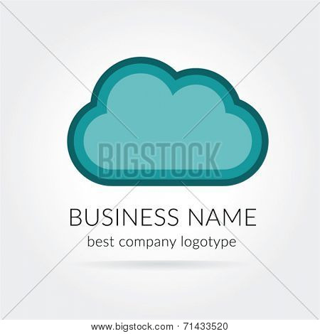 Vector cloud logo isolated on white background