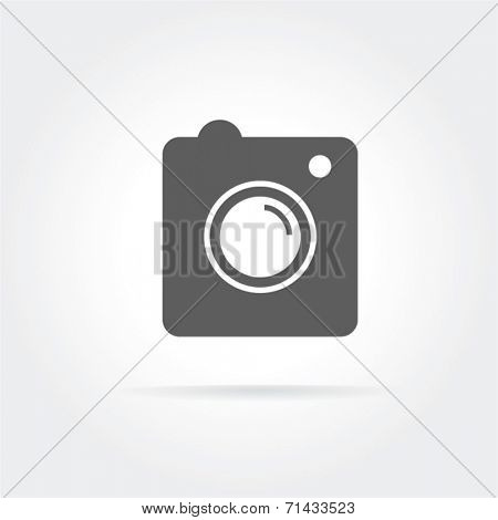 Instagram vector icon logo isolated on white background