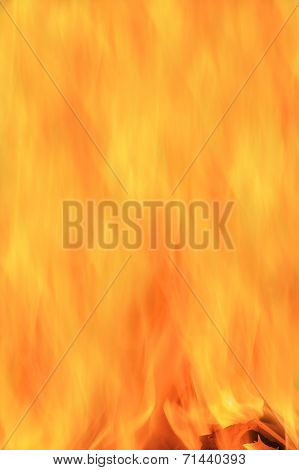 Fire and Flame Background - Abstract Art of Color and Heat