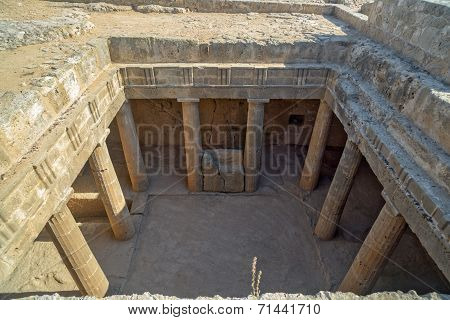Ancient Ruins In Paphos On Cyprus