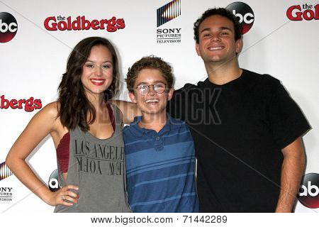 vLOS ANGELES - SEP 3:  Hayley Orrantia, Sean Giambrone, Troy Gentile at the