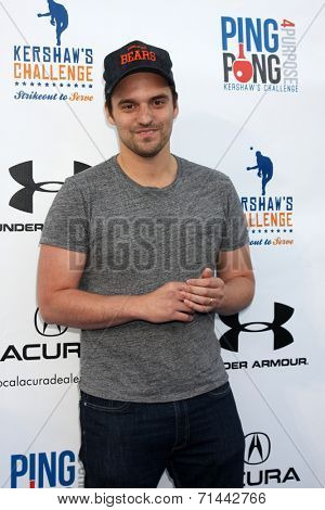LOS ANGELES - SEP 4:  Jake Johnson at the Ping Pong 4 Purpose Charity Event at Dodger Stadium on September 4, 2014 in Los Angeles, CA