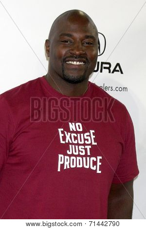 LOS ANGELES - SEP 4:  Marcellus Wiley at the Ping Pong 4 Purpose Charity Event at Dodger Stadium on September 4, 2014 in Los Angeles, CA