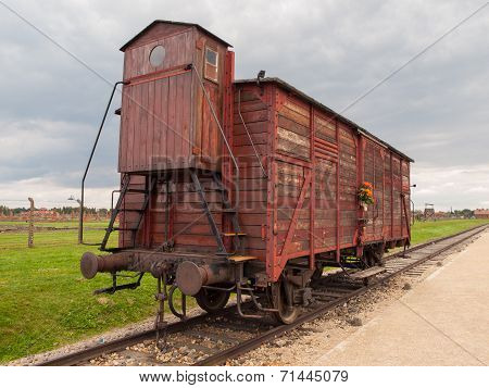 Transport Wagon In Concentration Camp
