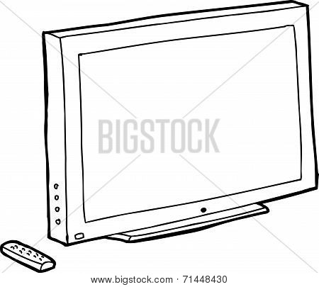 Outline Black Tv