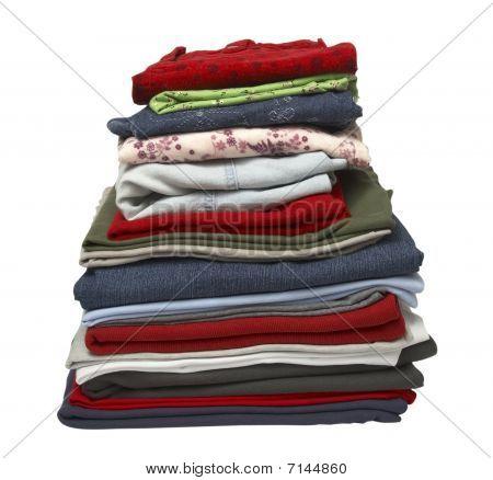 Stack Of Clothing Shirts