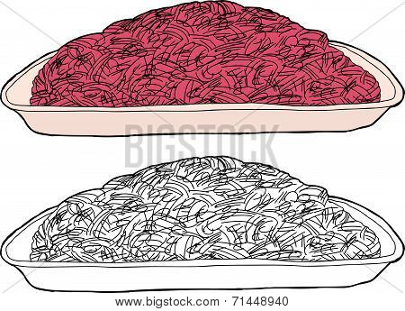 Isolated Ground Beef